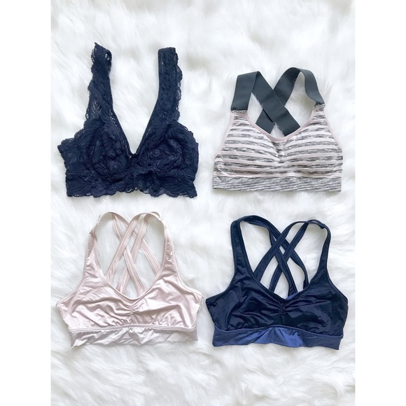 33e457e686 aerie Other - Aerie Sunny Sports Bras + Free Lace Bralette Small